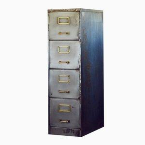 Industrial Polished Metal Filing Cabinet