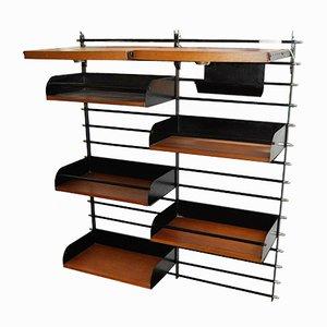 French Modular Black Metal Shelf, 1950s