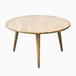 Danish Round Coffee Table by Hans J. Wegner for Carl Hansen & Søn, 1954