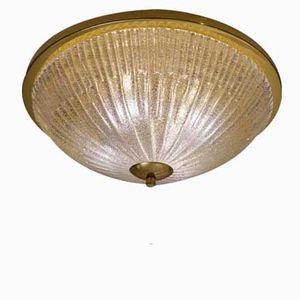 Grande Lampe à Niveaux en Laiton et en Cristal de Hillebrand, 1970s