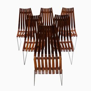 Skandia Rosewood Dining Chairs by Hans Brattrud for Hove Mobler, 1960s, Set of 6