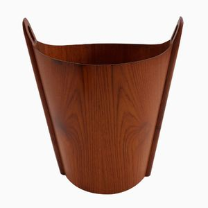 Norwegian Teak Waste Bin by Einar Barnes for P S Heggen, 1950s
