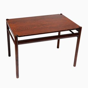 Scandinavian Rosewood Side Table with Reversible Top, 1960s