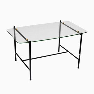Glass Coffee Table by René-Jean Caillette, 1950s