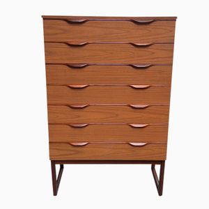 English Walnut Chest of Drawers by Europa, 1960s