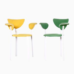 Lackierte Vintage Metallstühle im Anti-Design Stil, 2er Set