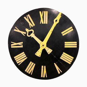 Grand Panneau d'Horloge d'Eglise en Métal, Belgique, 1960s