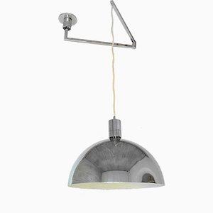 Italian Chromed Swing-Arm Ceiling Lamp by Franco Albini for Sirrah, 1969