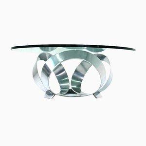 German Diamond Aluminium Coffee Table by Knut Hesterberg for Ronald Schmitt, 1970s