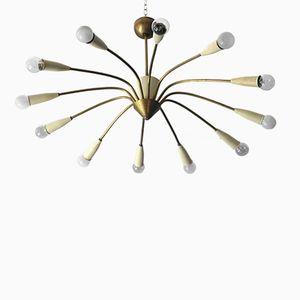 Grand Lustre Sputnik à 12 Branches, 1950s