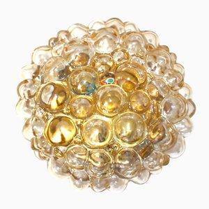 Glasblasen- Deckenlampe von Helena Tynell für Glashütte Limburg