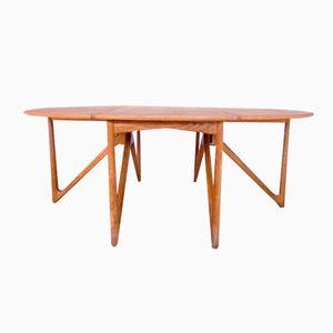 Mid-Century Oak Drop Leaf Dining Table by Kurt Ostervig for Jason Mobler