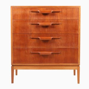 Danish Oak Chest With Teak Drawers, 1950s