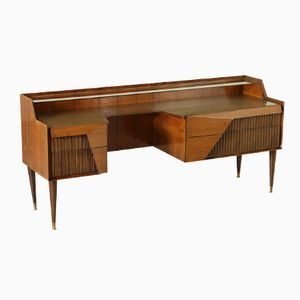 Italian Rosewood Sideboard with Drawers and Glass Top, 1950s