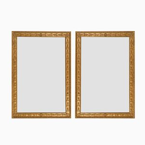 French Gilt Mirrors with Oak Leaves and Rosettes, Set of 2