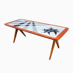 vintage seepferdchen mosaik couchtisch 1950er bei pamono kaufen. Black Bedroom Furniture Sets. Home Design Ideas