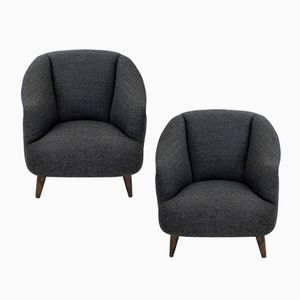 Mid-Century Sculptural Armchairs by Guglielmo Ulrich, Set of 2