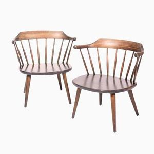 Swedish Armchairs by Yngve Ekström for Småland Sweden, Set of 2