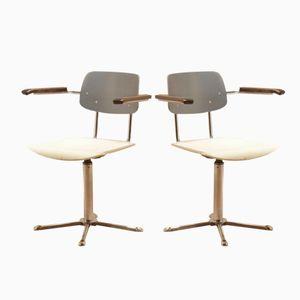 Vintage Bauhaus Tricolor Desk Armchairs, Set of 2