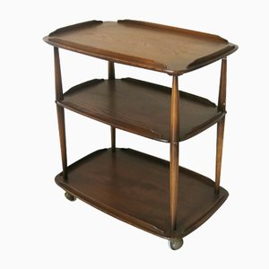 Mid-Century Elm Trolley by Lucian Ercolani for Ercol