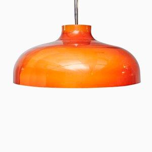 Orangefarbene Kunststoff Hängelampe von Miguel Milà für Tramo, 1950er