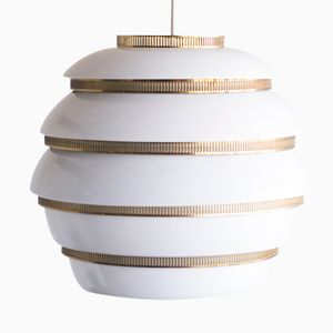 Model A331 Beehive Pendant Lamp by Alvar Aalto for Valaistustyö, 1955