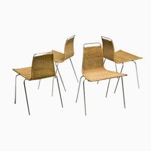 PK1 Stühle von Poul Kjærholm für E. Kold Christensen, 1956, 4er Set