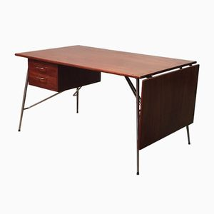 Mid-Century Drop Leaf Desk by Borge Mogensen for Soborg Mobelfabrik