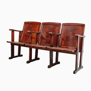 Three-Seater Theater Bench, 1920s