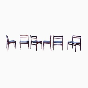 Danish Teak Dining Chairs from Frem Røjle, 1960s, Set of 6