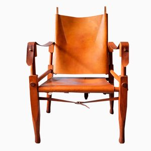 Leather and Ash Safari Chair by Wilhelm Kienzle, 1950s