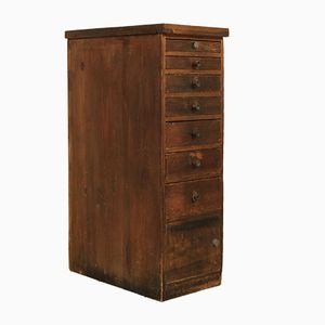 German Industrial Spruce Drawer Unit, 1930s