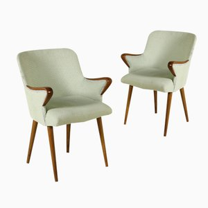 Stained Beech Chairs by Osvaldo Bersani for Tecno, 1950s, Set of 2