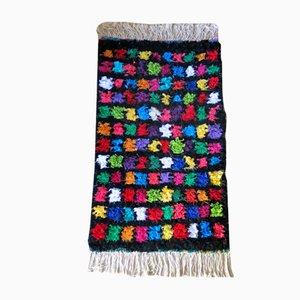 Moroccan Small Multi-Colored Boucherouite Rug, 1990s