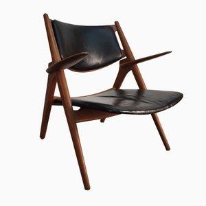 Dänischer CH28 Sägebock Stuhl von Hans J. Wegner für Carl Hansen & Son, 1950er