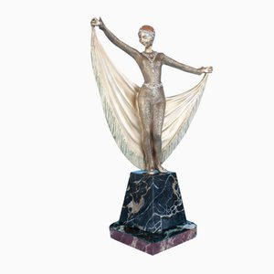 Französische Art Deco Bronze Statue von Henri Grisard, 1920er