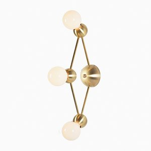 Lina 03-Light Diamond Sconce by Rosie Li
