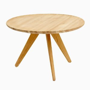 Swedish Pine Tripod Coffee Table, 1960s