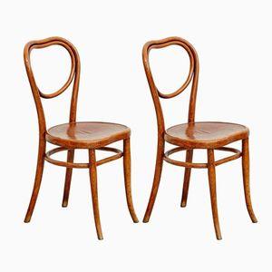 Französische Thonet Stühle von Thonet, 1920er, 2er Set