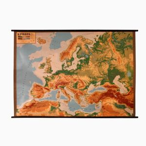 Dutch Relief Map of Europe, 1960s