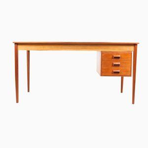Teak & Oak Desk by Børge Mogensen for Søborg, 1950s