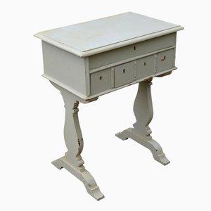 Antique Swedish Cream Console Table