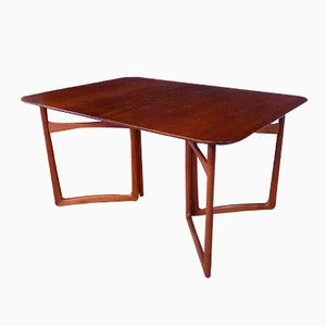 Danish Extending Teak Dining Table by Hvidt & Mølgaard for France Daverkosen, 1950s