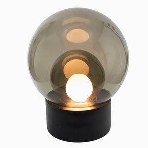 Medium Boule aus Rauchglas mit Schwarzem Sockel von Sebastian Herkner für Pulpo & Rosenthal