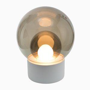 Medium Boule aus Rauchglas mit Weißem Sockel von Sebastian Herkner für Pulpo & Rosenthal