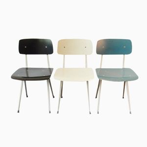Mid-Century Result Chairs by Friso Kramer for Ahrend de Cirkel, Set of 3
