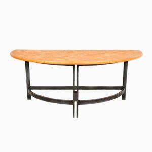 Halbrunder Tisch aus Korken, Buchenholz & Stahl von Poul Kjærholm für PP Møbler, 1970er
