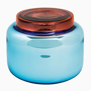 Container Low in Light Blue and Red by Sebastian Herkner for Pulpo