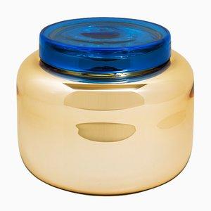 Container Low in Blau und Gold von Sebastian Herkner für Pulpo
