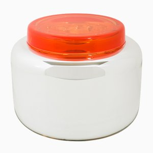 Container Low in White and Poppy Red by Sebastian Herkner for Pulpo